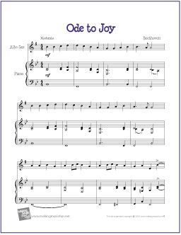Ode To Joy Beethoven Ode To Joy Sheet Music Saxophone Sheet