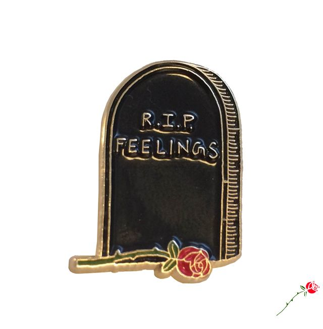 Image of RIP Feelings Pin