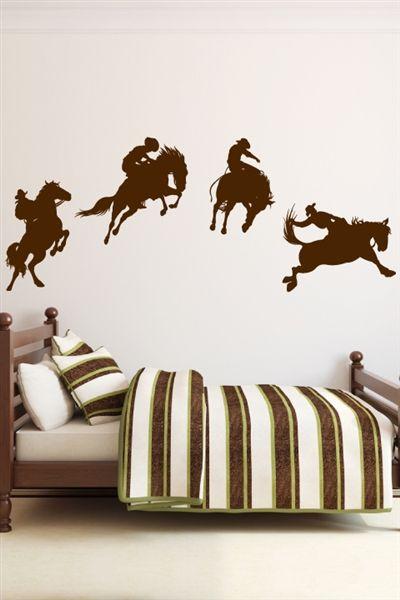 Cowboy Wall Decals Walltat Cowboy Room Boys Cowboy Room Cowboy Bedroom