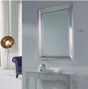 Espejo plateado rectangular espejos rectangulares for Espejo rectangular plateado