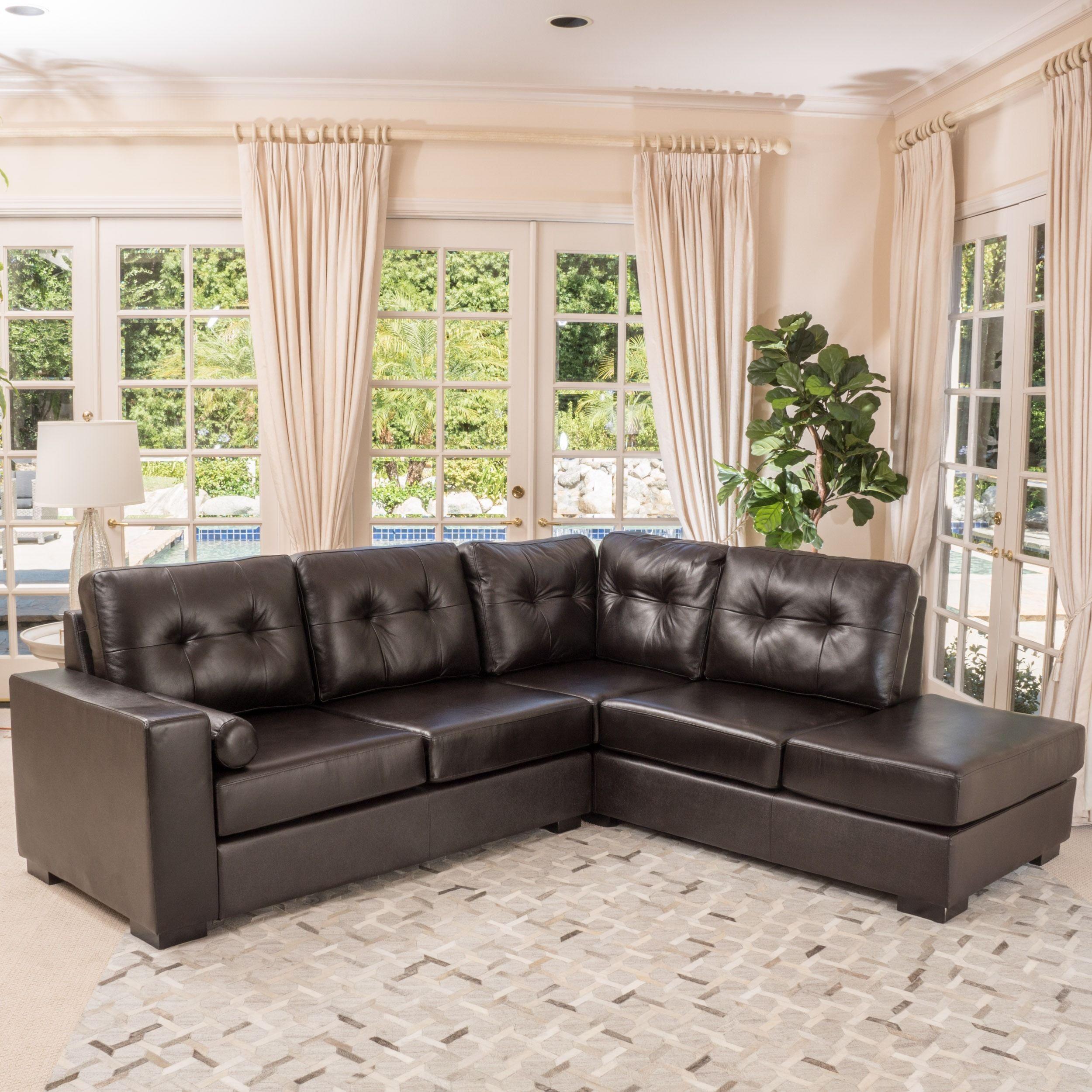 Phenomenal Elisa 2 Piece Brown Leather Sectional Sofa Set By Uwap Interior Chair Design Uwaporg