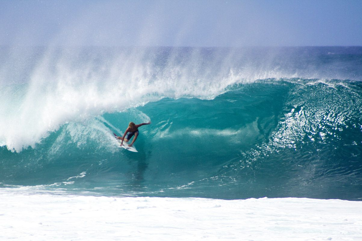John John Florence Surfing Pipeline Hawaii Ray Dombroski