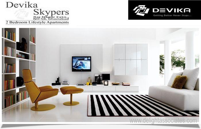 Devika Skypers Raj Nagar Extension Ghaziabad 1 2 3 Bhk Flats 0 Brokerage Modern Living Room Interior Modern Minimalist Living Room Minimalist Living Room