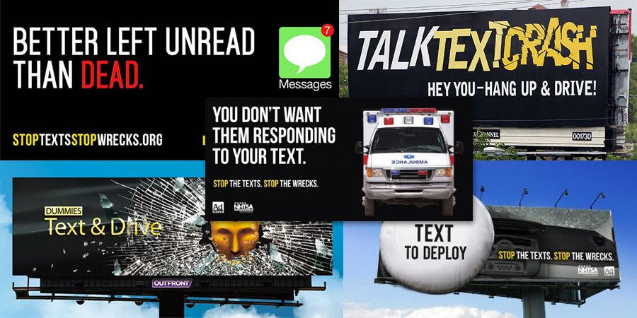 Texting Driving Distracted Driving Billboards A Great Collection Distracted Driving Driving Billboard