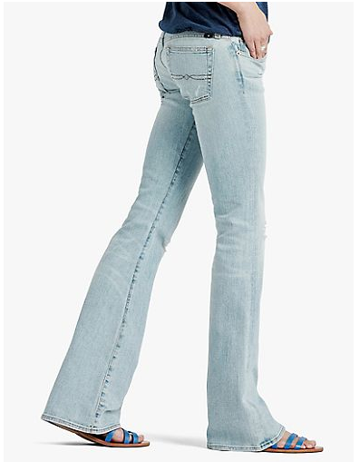 Lucky Brand Lil Maggie Ripped Jeans...They stretch out but they're cool for 5 minutes.