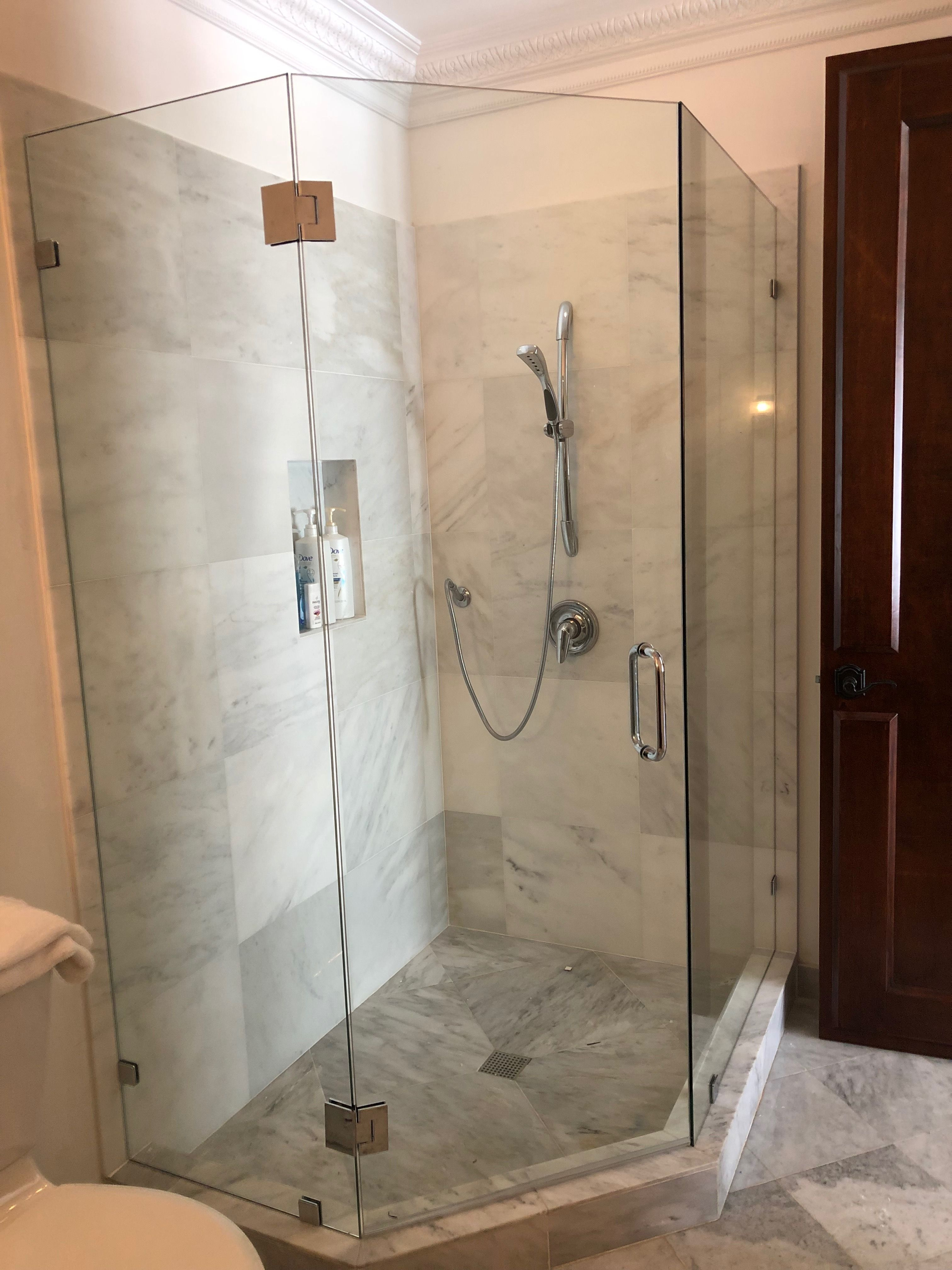 Custom Neo Angle Shower Designed And Installed By Alpha Glass
