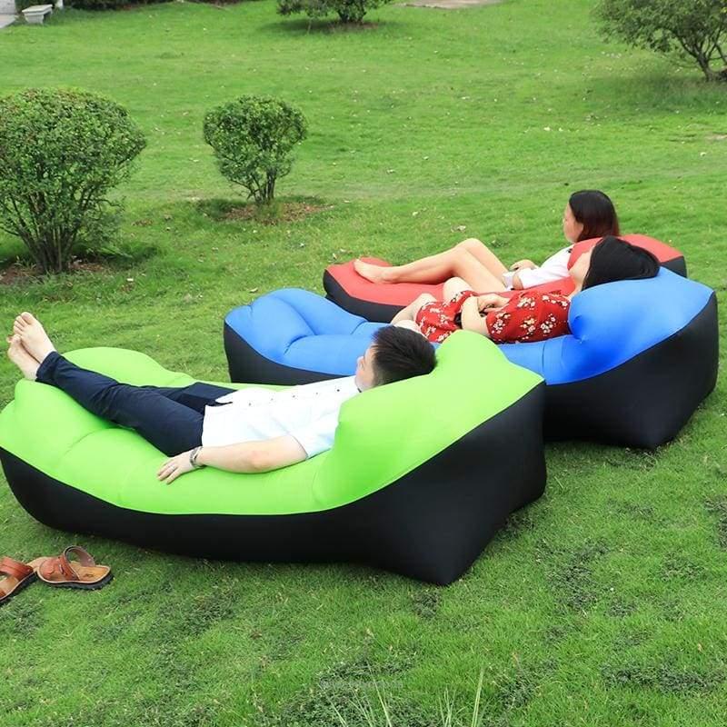 Banana Inflatable Sleeping Bag Air Lounger Beach Bedding Beach