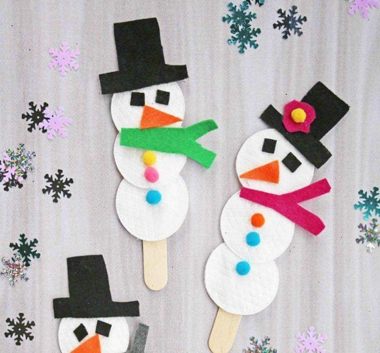 Winter basteln mit Kindern – 6 Ideen für Winterbasteleien im Januar