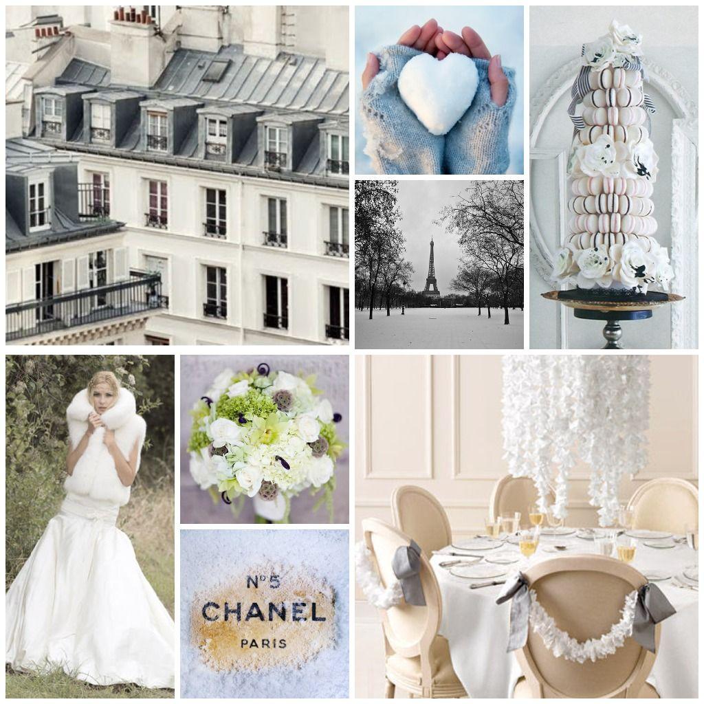 a #Parisian #winter #wedding   Wedding Inspiration Boards ...