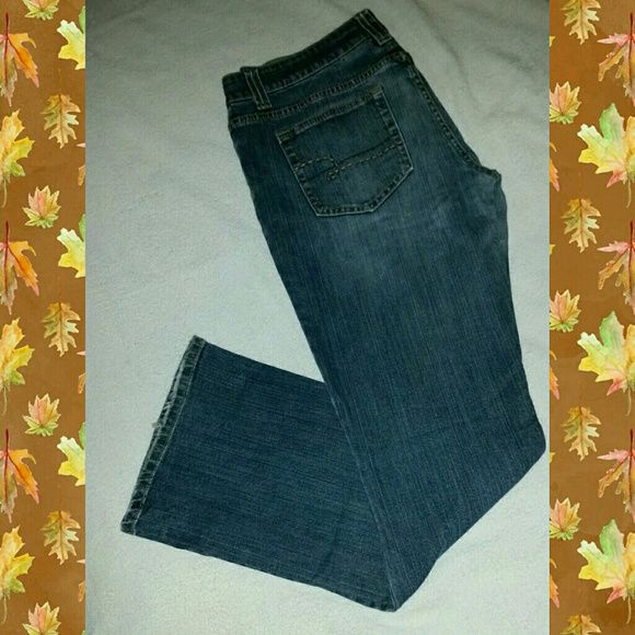 Maurices Jeans Medium denim jeans. Faded in the front. Simple design on the pockets. Maurices  Jeans Boot Cut