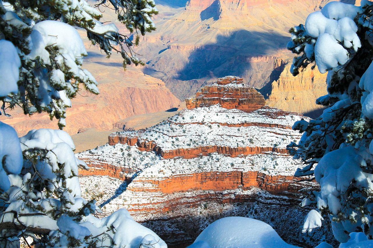 Forest Grand Canyon Winter Landscape Park Forest Grand Canyon Winter Landscape Park Scenic Grand Lake Canyon
