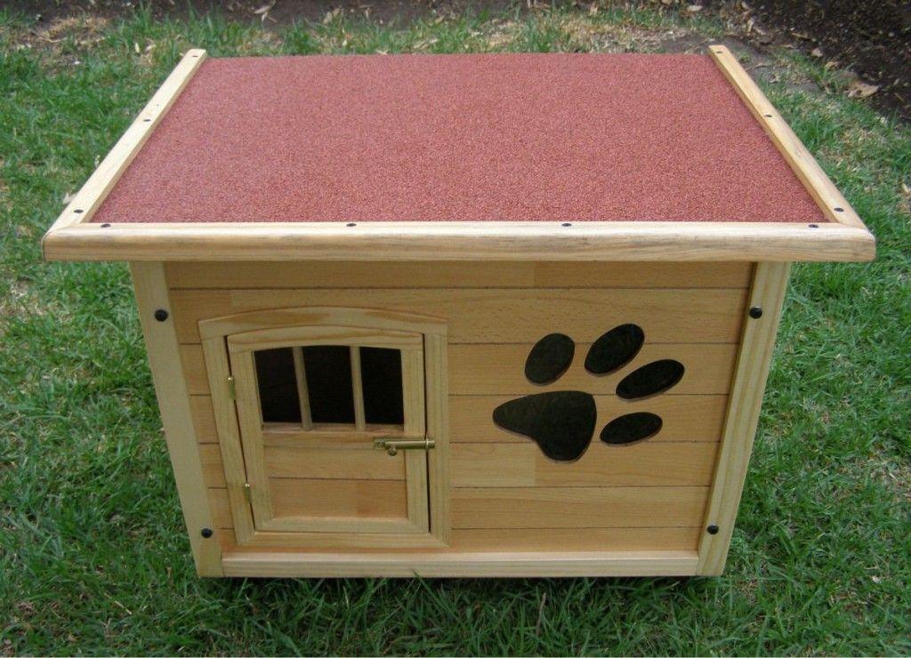 Casas para perros de madera 1 casa para perro pinterest Casas para perros de madera