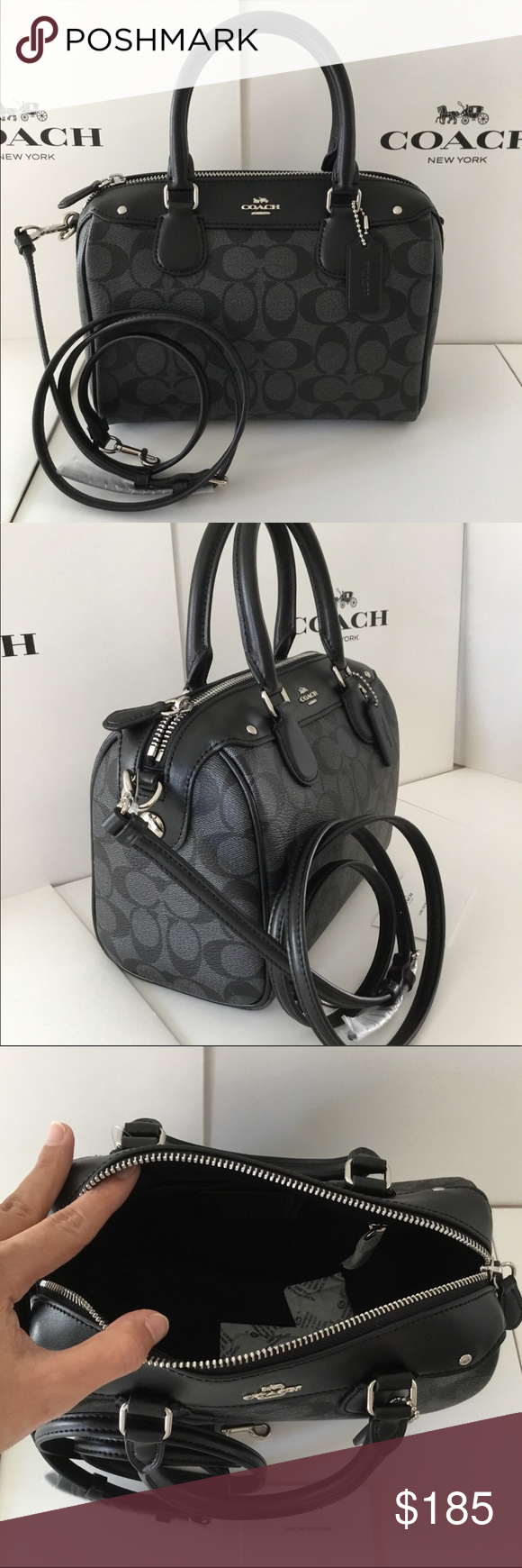 🌺Authentic Coach Signature Mini Bennett Satchel. ✅ The bag is brand new  and original from Coach factory store. They re perfect and comes with Coach  care ... 59372f66f376f