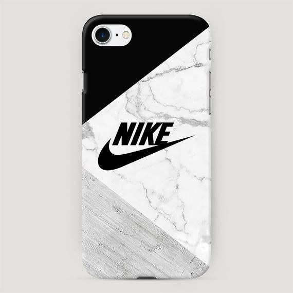 Nike Phone Case, Black and Gray Marble iPhone Case, Sport Style Cover for iPhone X, Stone iPhone XR