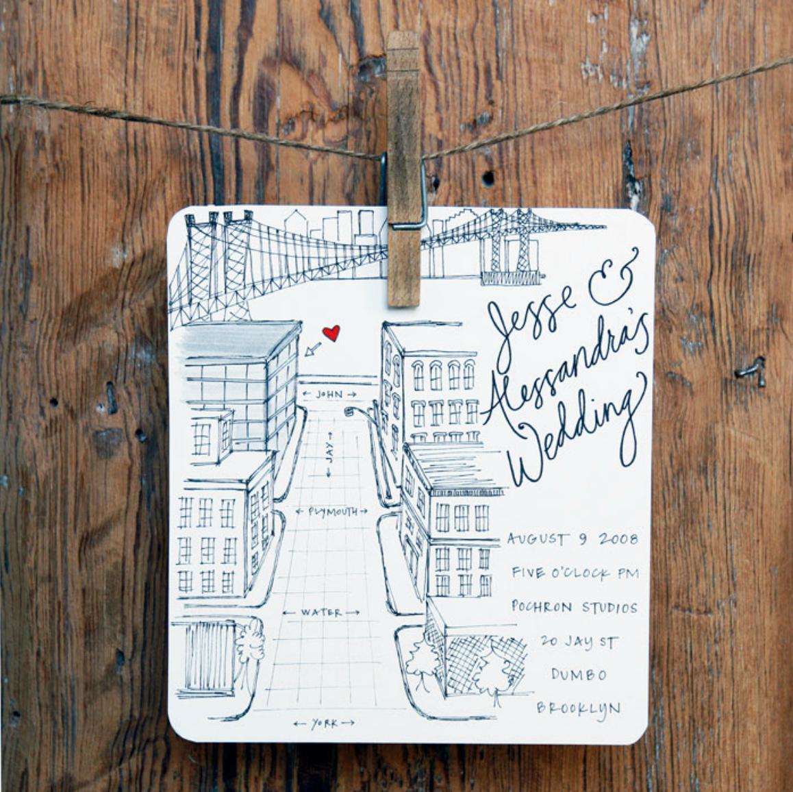 map wedding invitations