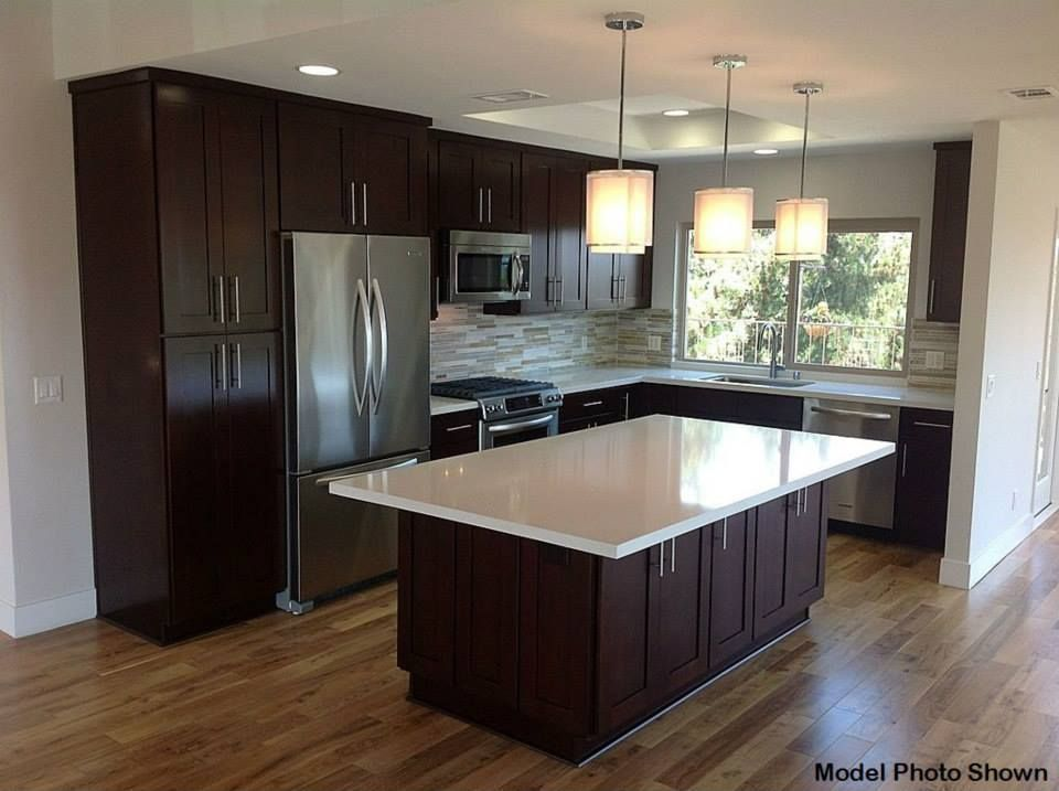 Best Contemporary Kitchen With Hardwood Floors Flat Panel 640 x 480