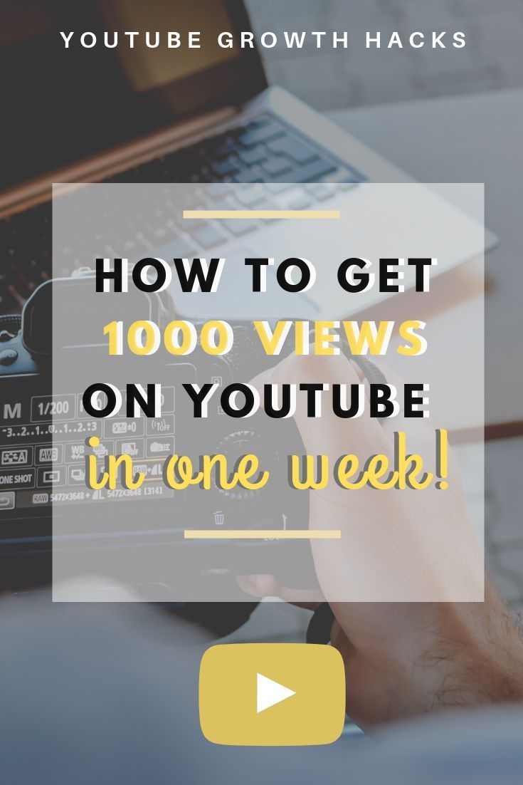 Learn how to get 1000 views on your YouTube videos with this YouTube growth secret! Use this YouTube Growth hack to grow your YouTube channel and get more subscribers.   #growyouryoutubechannel #youtubegrowthhacks #pinterestmarketing #youtubechannelideas #youtubevideos #getviewsonyoutube #getmoresubscribersonyoutube #howtogetmoreyoutubesubscribers