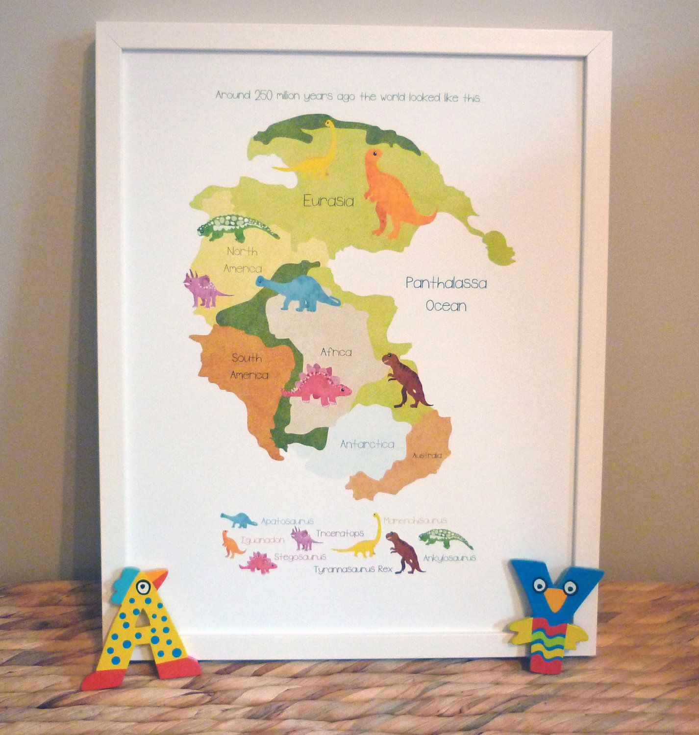World map map of the world dinosaurs poster print by thispaperbook world map map of the world dinosaurs poster print by thispaperbook 3000 gumiabroncs Images