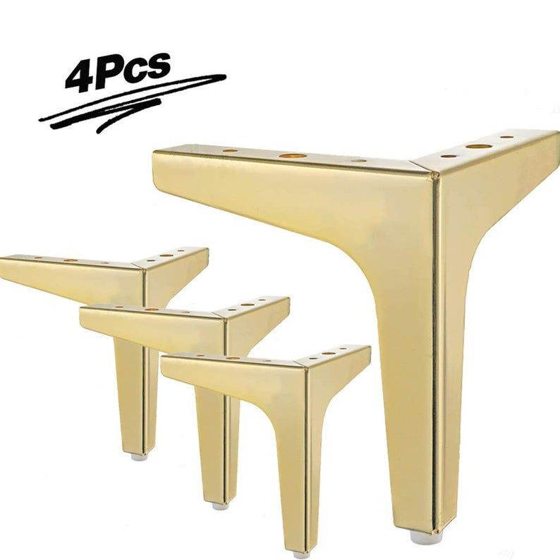 Furniture Legs Set Of 4 Modern Metal Diamond Triangle Etsy In 2020 Furniture Legs Metal Furniture Legs Modern Sofa Legs