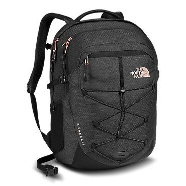 0d786140fa The North Face Women s Borealis Backpack TNF Black Heather Rose Gold Bag