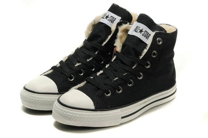 converse shoes with fur