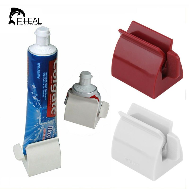 New Bathroom Set Rolling Tube Tooth Paste Squeezer Dispenser Toothbrush Holder
