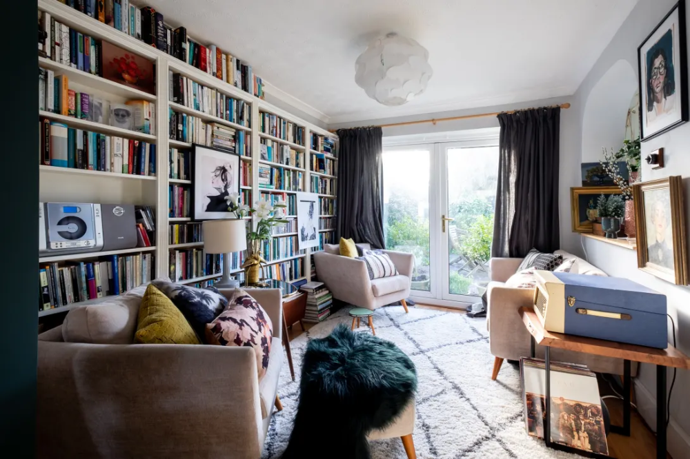 Maximalist Colorful BookFilled UK Home Tour Photos
