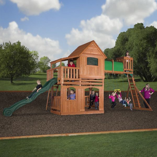 Backyard Discovery Woodridge II All Cedar Wood Playset U2013 Britt And Jules