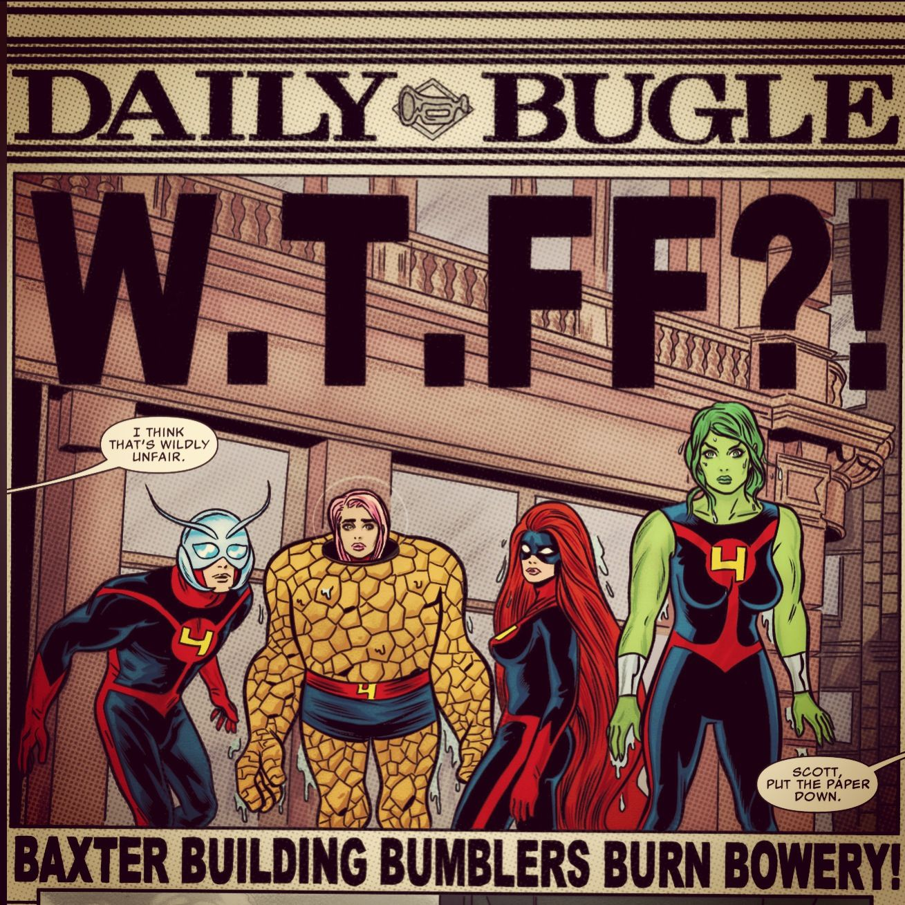 Ant-Man, Ms. Thing, Medusa & She-Hulk make up the Future Foundation in the pages of FF.
