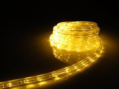 Warm White Led Flat Rope Light Kit For 120v Christmas Lighting