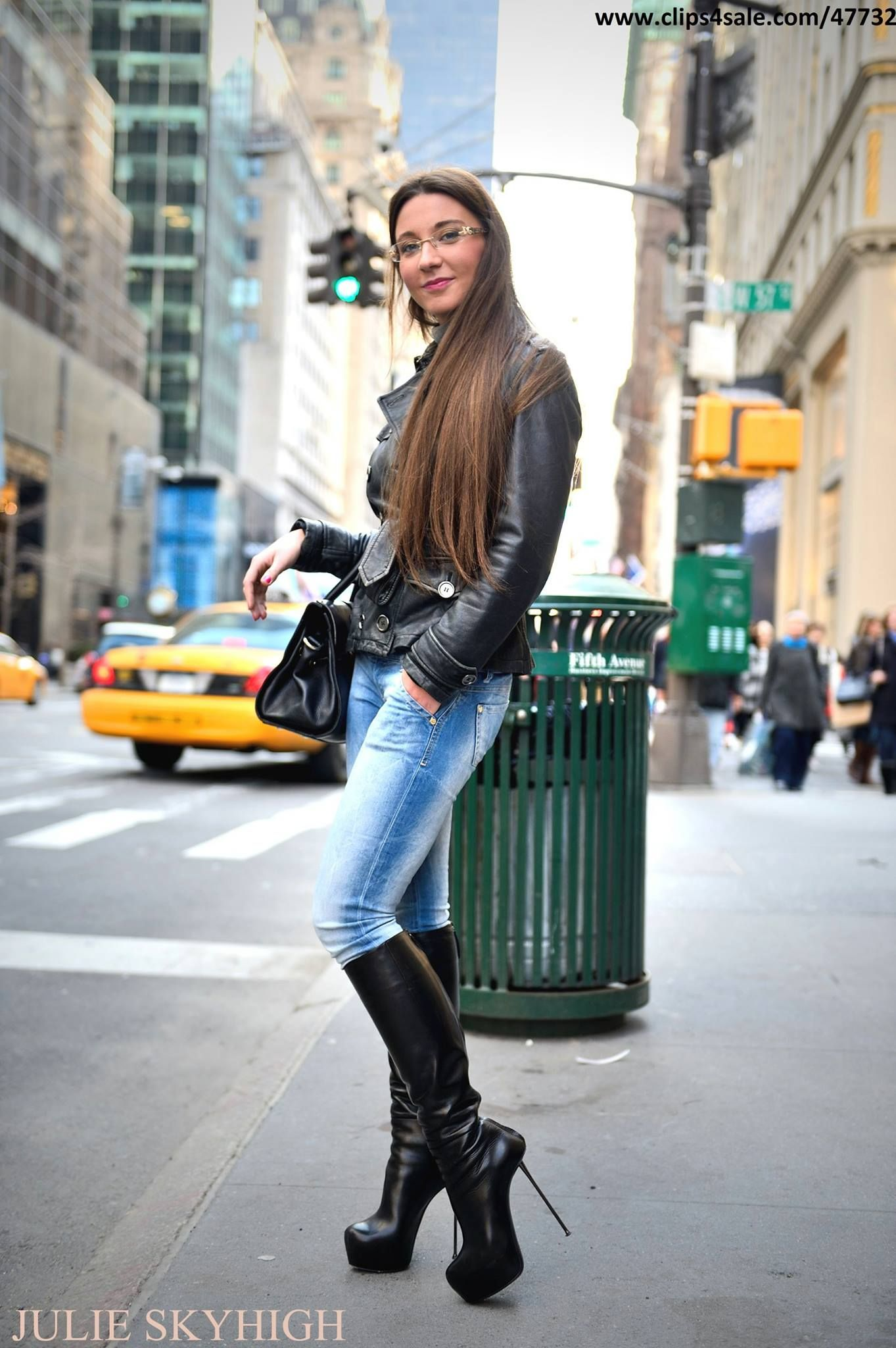 e9a0aefebba Julie Skyhigh stiletto boots in NYC