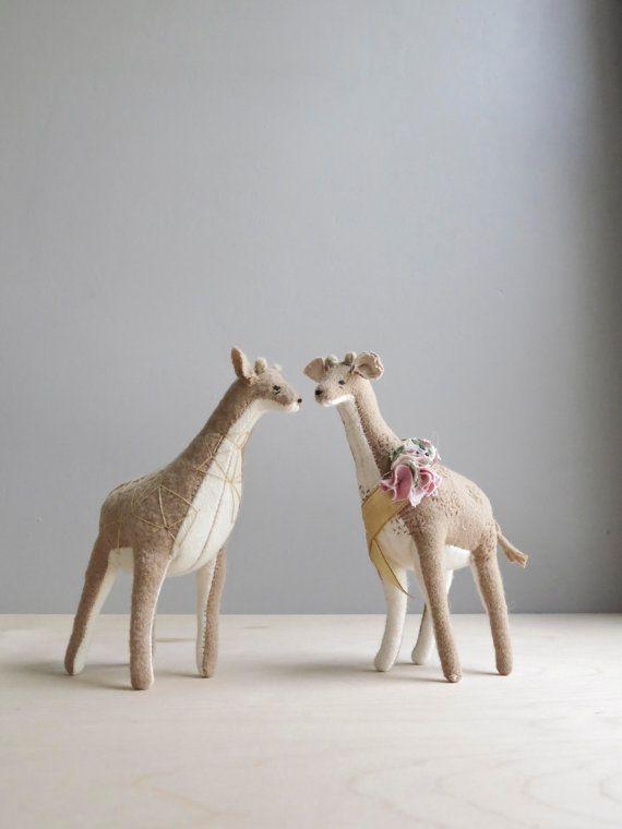 geometric giraffe / soft sculpture animal