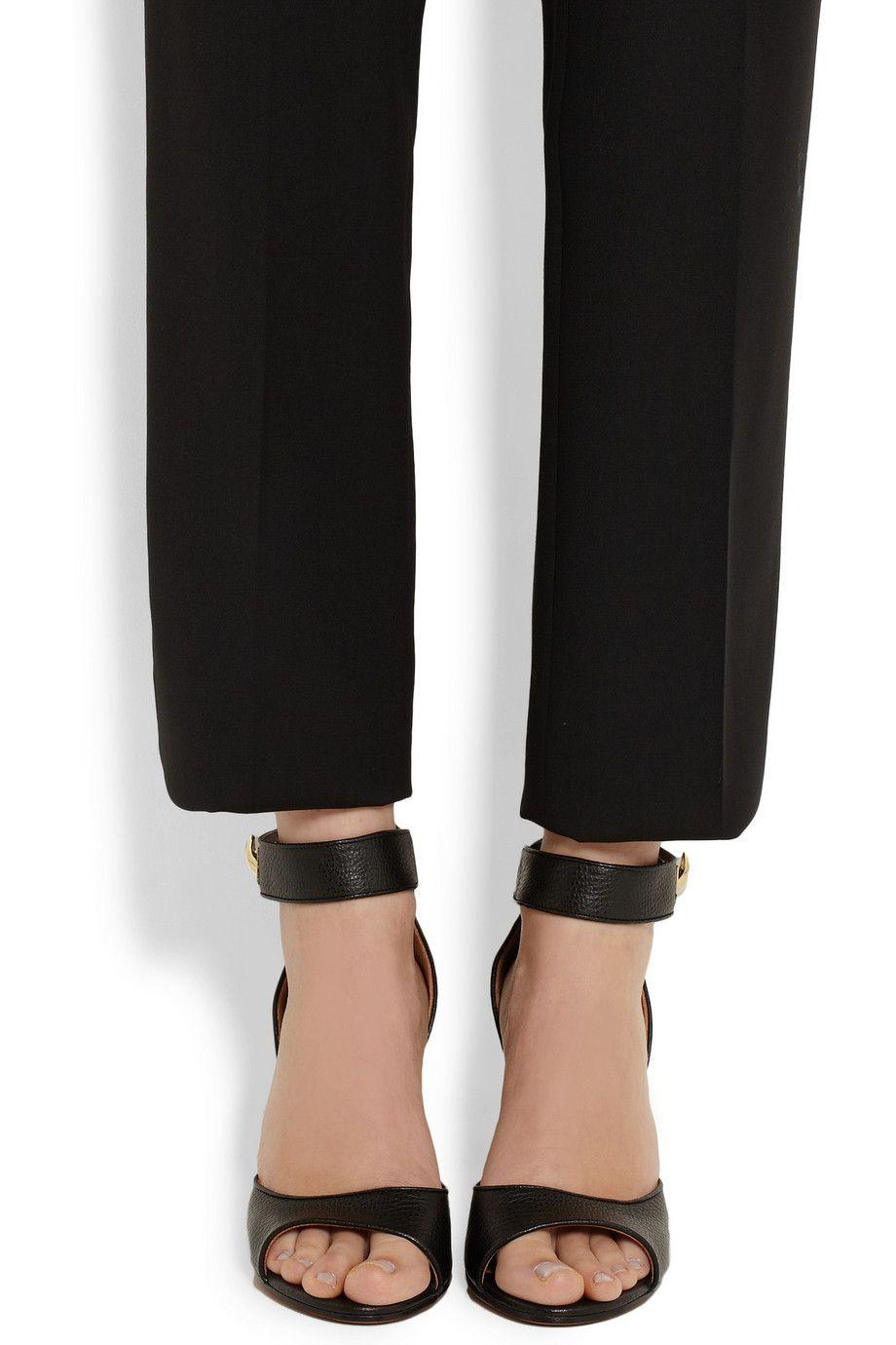 Textured Porter Shark Leather Givenchy Lock A Sandals Net com EzqTF