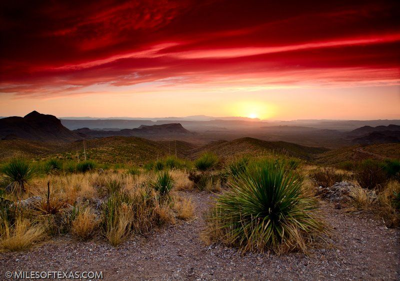 Sunrise Over The The Big Bend Tx Area  Deep In The Heart -4746