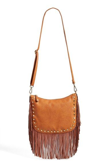 Faux Leather Fringe Crossbody Bag