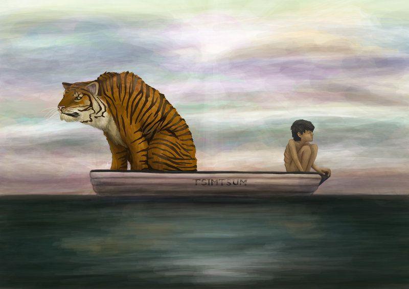 008 Life of Pi, Pi and Richard Parker the Tiger