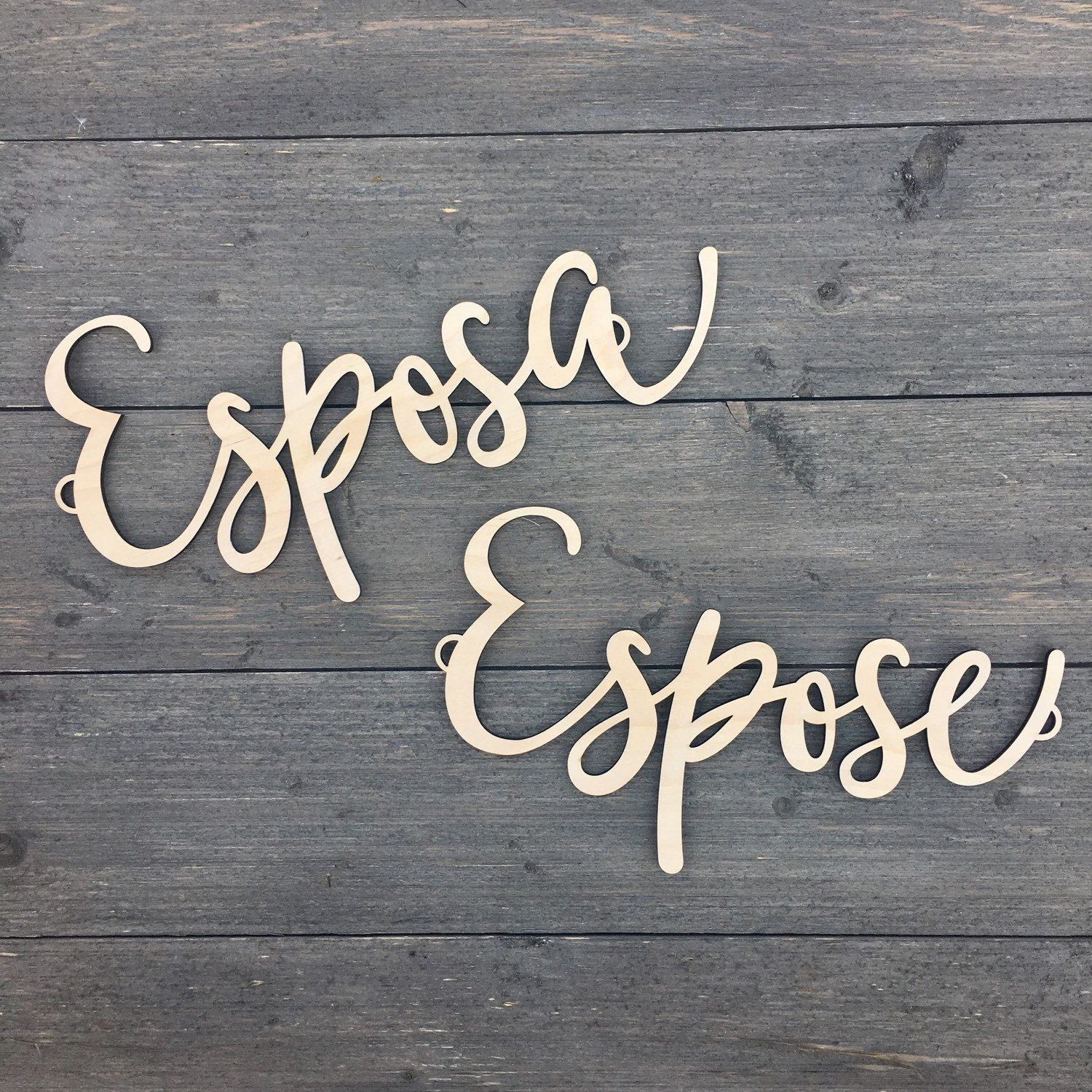 Fun New Chair Signs Espose Y Esposa Husband Wife Wooden For