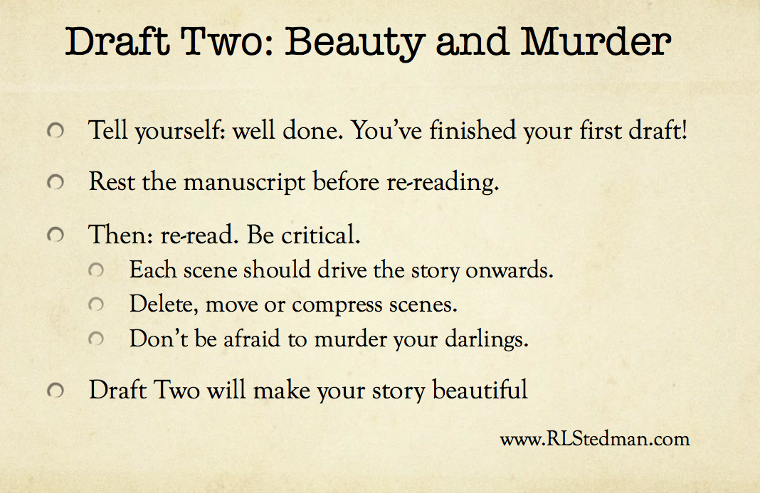 Your second draft - beauty and murder