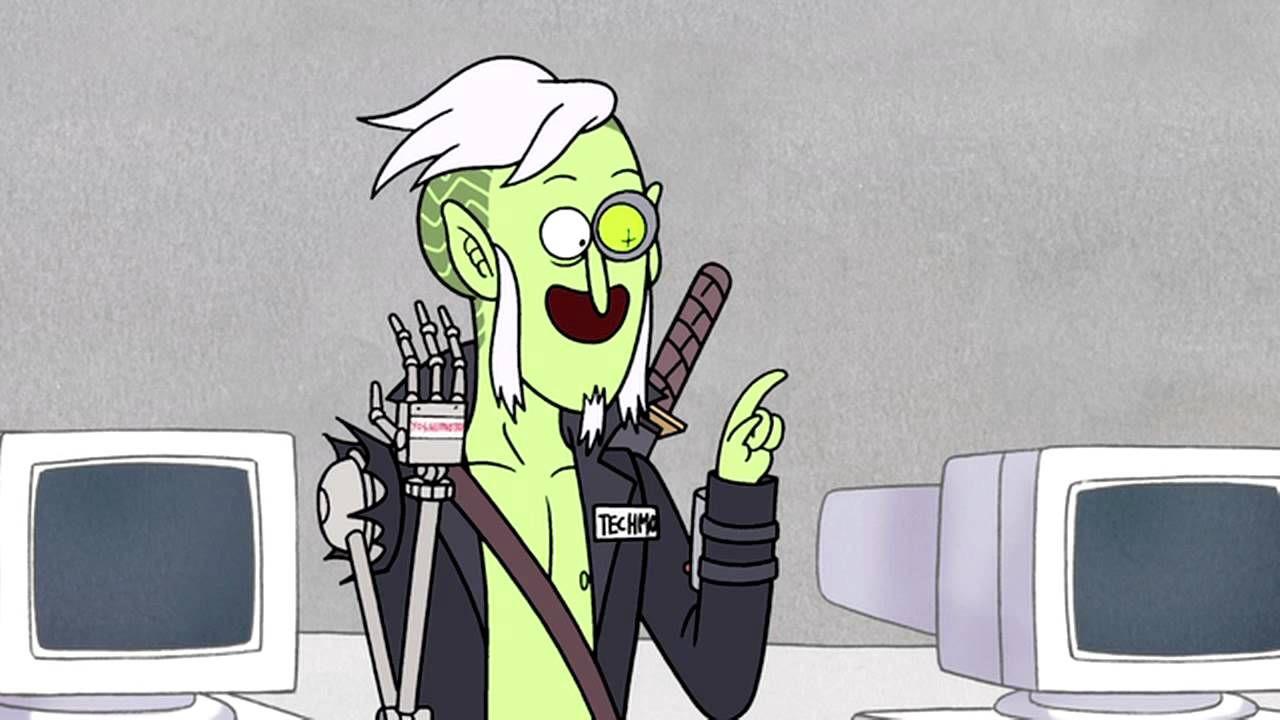 Regular Show Skips Vs Technology Regular Show Cartoon