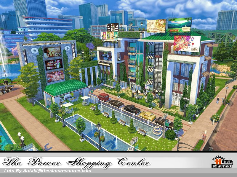 The Power Shopping Center is an modern elegant place for
