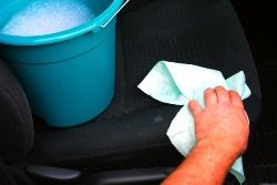 How to Clean Car Seat Stains... I need to do this; coffee stains #cleaningcars