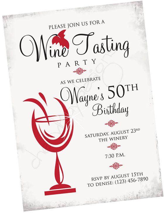 wine tasting party invitation cherylkaydesigns clean pinterest