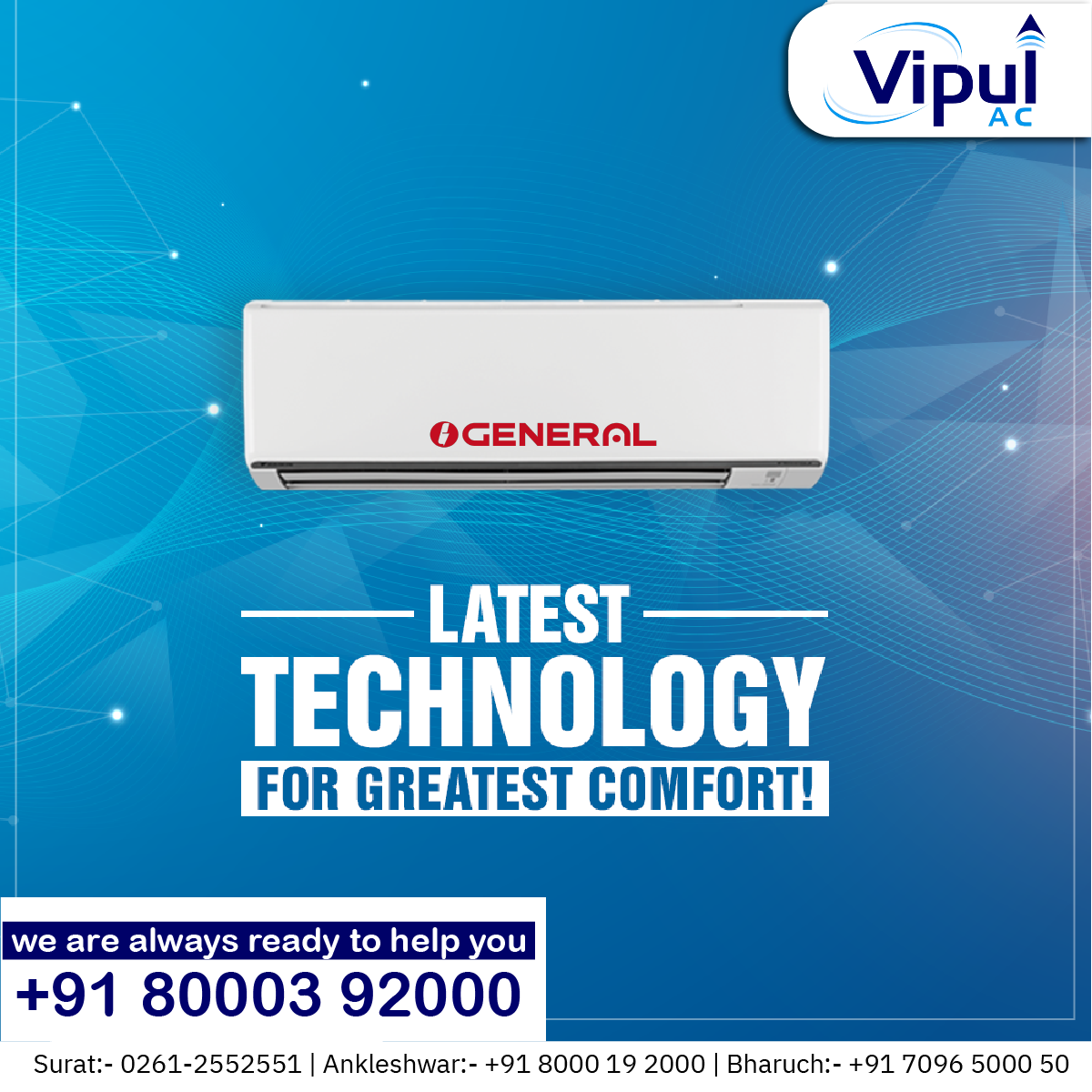 Latest Technology for Greatest Comfort! Vipul Ac in 2020