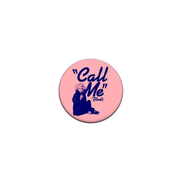 "Blondie ""Call Me"" 1-Inch Pin Button Badge (Debbie Harry 70s Punk New... ❤ liked on Polyvore featuring fillers, accessories, pin jewelry, punk jewelry, punk rock jewelry, button jewelry and button brooch"