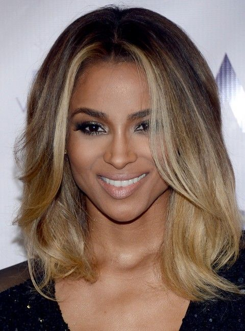 Ciara Medium Hairstyle Layered Haircut Pretty Designs Hair Styles Ciara Hair Medium Hair Styles