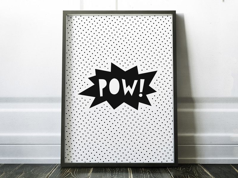 POW! \\ artprint din a5 von WHATEVER shop auf DaWanda.com