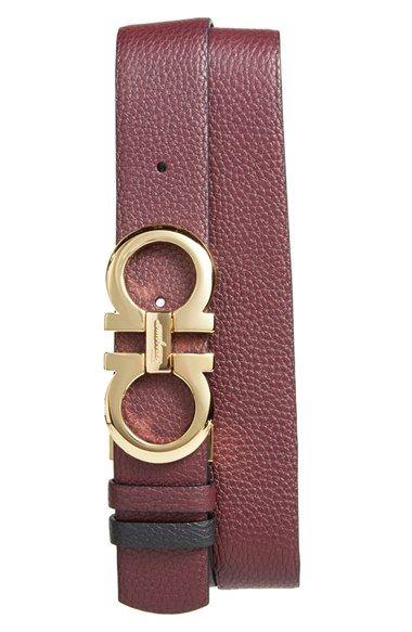 Salvatore Ferragamo Double Gancio Reversible Leather Belt Fivela De Couro,  Cintos De Couro, Cintos e7dd7619d7