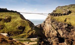 New Tintagel Castle footbridge retraces line of ancient land link #naturallandmarks