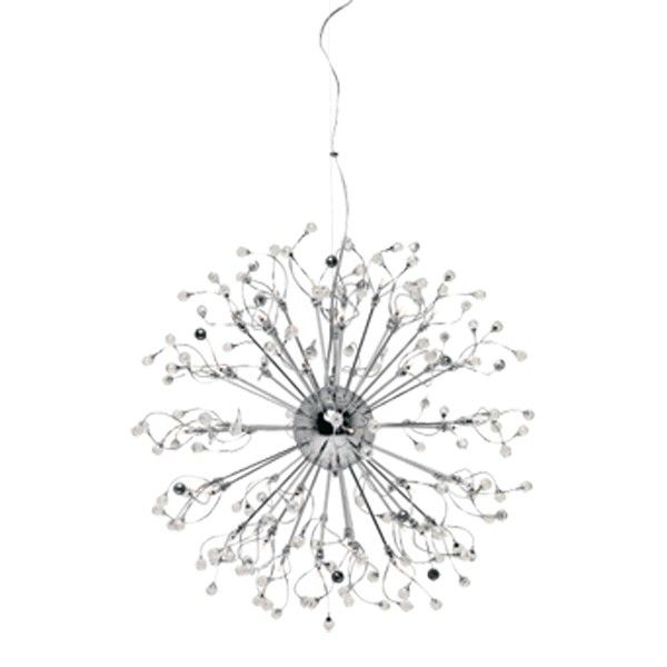 krysta 48 light pendant in chrome with crystals chandeliers lighting chandelier pendant lighting