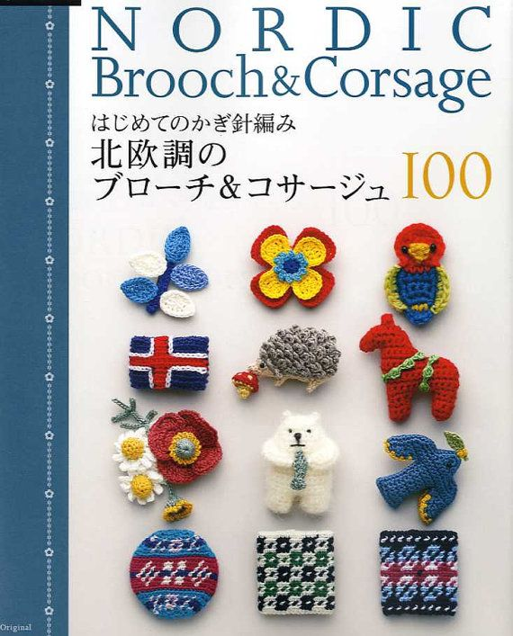 Nordic Brooch and Corsage Crochet Patterns 100 por pomadour24 ...